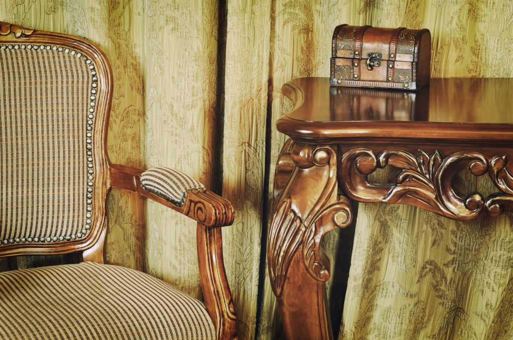 vintage chair and table
