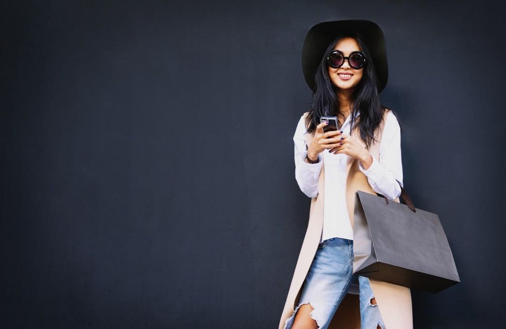 a fashionista woman