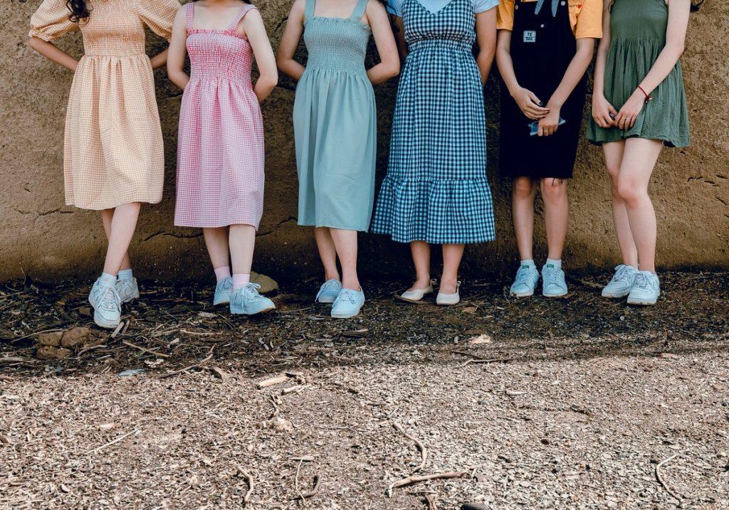 wearing dresses